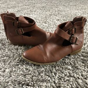 Brown Strappy Booties